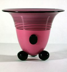 Pink and Black LOETZ Vase