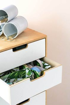 Get organized: DIY hacks to curb office clutter! Check out these four ways to DIY yourself to a cleaner, less stressful workspace. Home Office Organization, Organization Hacks, Making Life Easier, Staying Organized, Diy Hacks, Floating Nightstand, Clutter, Craft Supplies, Easy Diy