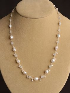 Ethereal Dainty Drop Necklace in Silver