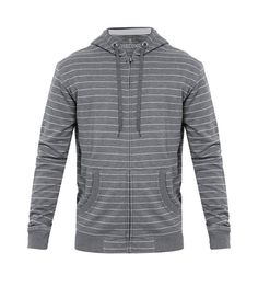 Hoodie Stripe  by 3SECOND. Stripes cotton hoodie with light gray stripes pattern, long sleeve, stripe hoodie is the best companion for your day, stay cool in cold weather, pair it with plain t-shirt, jeans and sneakers for casual style.   http://www.zocko.com/z/JFiLE