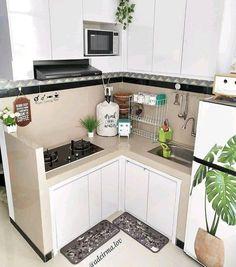 Kitchen Cabinets Decor, Kitchen Layout, Home Decor Kitchen, Home Room Design, Home Design Plans, Modern Kitchen Design, Interior Design Kitchen, Small Kitchen Set, Cuisines Diy