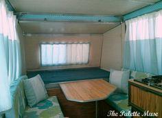 Our interior remodel on a vintage 1976 Apache Mesa Pop up camper