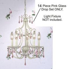 25.20  Laura Ashley YCH202 14 Piece Pink Glass Crystal Drop Chandelier Set, Pink Glass Drops, B9094 Laura Ashley http://www.amazon.com/dp/B00415IDWC/ref=cm_sw_r_pi_dp_TiHcub1V9V223