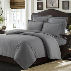 Tribeca Living Valencia Duvet Cover Set Color: Gray, Size: Twin