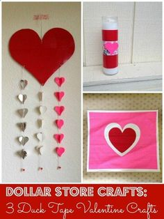 Tutorial: 3 Duck Tape Valentine Crafts!