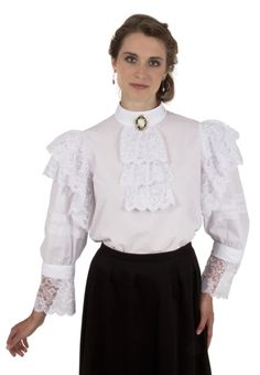 White Batiste Edwardian Blouse By Recollections