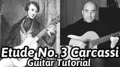 Guitar Lesson- Etude (Study in A Major) Matteo Carcassi Classical G. Guitar Notes, Guitar Tabs, Classical Guitar Lessons, Guitar Tutorial, Learn To Play Guitar, Online Lessons, Playing Guitar, Sheet Music, Music Instruments