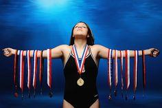Houston Sports Photographer: High School Senior in Champion Swimmer Pose