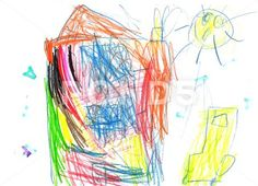 house - child's drawing - Stock Illustration | by ker