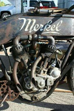 Vintage Motorcycles MERKEL ENGINE'S Call today or stop by for a tour of our facility! Indoor Units Available! Ideal for Outdoor gear, Furniture, Antiques, Collectibles, etc. Old School Motorcycles, Antique Motorcycles, American Motorcycles, Custom Motorcycles, Motorcycle Engine, Motorcycle Bike, Classic Motorcycle, Harley Davidson, Vintage Bikes