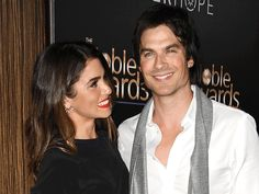 The actress talks about a possible vampire movie with her 'Vampire Diaries' fiance.