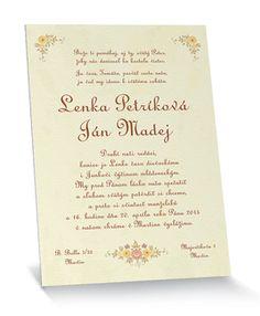Ľudové svadobné oznámenie s veršom