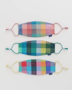 Fabric Masks - Baggu Thick Thread, Face Mask Set, Kona Cotton, Off Colour, Ear Loop, Mask For Kids, Birmingham, Organic Cotton, Weaving