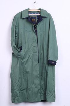 International Styling Danish Fashion Womens 42 XL Coat Single Breasted Green - RetrospectClothes