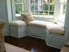 Country Window Seat Cushion, $829.99 Custom made from our workroom shipping to all States (http://frenchcountryfurnitureusa.com/country-window-seat-cushion/)