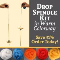 Warm hued fiber and your very own drop spindle are all you need to get started drop spindle spinning! Drop Spindle, Spring Sign, Colorful Socks, Hand Spinning, Knitting Patterns, Fiber, Kit, Warm, Learning