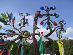 Yard Art ~ Andrew Carson's Wind Sculptures - Bayou City Arts Fest, originally uploaded by Mr. Kimberly.