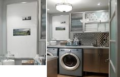 Easy to clean components of the laundry room.