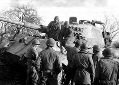 Char Tigre II de la Schwere SS Panzer-Abteilung 501. Numéro 204 de cuve. La Gleize
