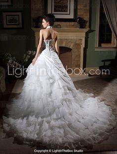 Lanting Bride® Ball Gown Petite / Plus Sizes Wedding Dress - Classic & Timeless / Elegant & Luxurious / Glamorous & Dramatic Vintage 2017 - $249.99