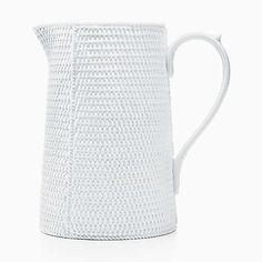 Tiffany Weave pitcher in Irish Parian bone china.