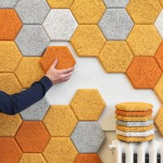 | 'Hexagon' acoustic tiles by Form Us With Love for Träullit (SE) |