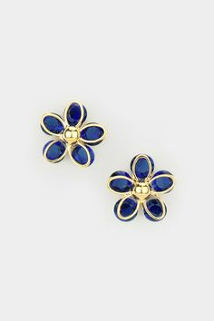 Flora Earrings in Sapphire CZ