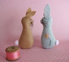 Blossom Bunnies Felt Ornament Sewing Toy PDF Pattern by Bumpkin. @ Do It Yourself Remodeling Ideas