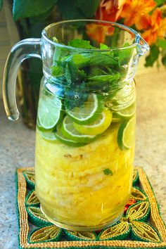 Pineapple Mojito | Via: This Girl Walks into a Bar