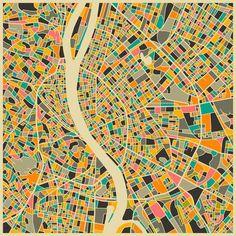 PrestigeArtStudios Budapest Retro Map Graphic Art Map Painting, Painting Prints, Canvas Prints, Art Prints, Map Wall Art, Map Art, Dynamic Architecture, Studio, Budapest