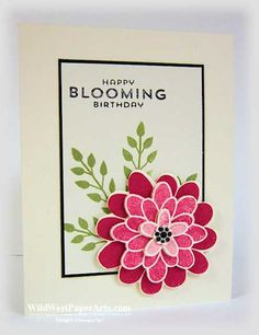 A Beautiful Flower Patch for Pals Paper Arts Color Challenge PPA215  Thank you for playing along!  #ppa215 #Stampinup #raeharper-burnet #stampinup #wildwest #handmadecard #birthday #flowers