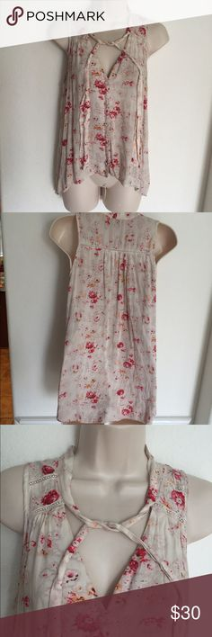 Free People Floral Button Down Blouse Free People Floral Button Down Blouse  size xs Free People Tops Blouses