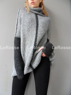 by LeRosse – Denitza Oversized/Slouchy/Loose knit sweater. by LeRosse Oversized/Slouchy/Loose knit sweater. by LeRosse Handgestrickte Pullover, Pullover Sweaters, Slouchy Sweater, Baby Knitting Patterns, Knitting Designs, Crochet Patterns, Loose Knit Sweaters, Knitting Sweaters, Easy Knitting