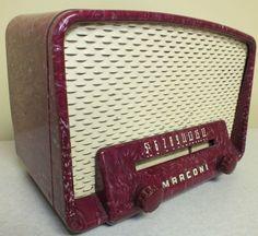 Antique Marconi Model 271 Tube Radio Vintage Bakelite Catalin CMC Parts Repair   eBay