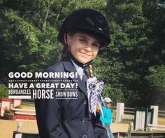 For all the riders, parents, trainers at shows today, I wish you the best of times. Have a great day! #bowdangleshorseshowbows #bowdanglesgirl #horseshows #ponyrider #ponyhunter Equestrian girls in Bowdangles Horse Show Bows, making the best memories possible.