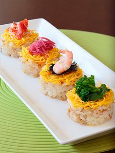 ちらし寿司 unrolled sushi