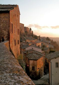 Montepulciano,Tuscany ...  it would be a favorite place of mine, if i ever went there.   it's on my list of things to see!!