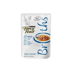 Fancy Feast Broths for Cats, Classic, With Tuna Shrimp and Whitefish - (16) 1.4-Ounce Pouches >>> More details can be found by clicking on the image.