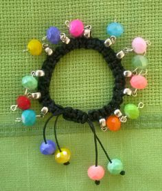 Ethnic style bracelet with mixed color beads