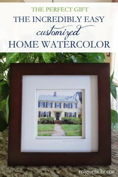 The perfect, and meaningful, gift! Create a home watercolor in five minutes (even if you have zero artistic abilities!)