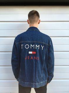 Tommy Hilfiger jacket hilfiger denim jacket coat trucker top USA oversize oversized