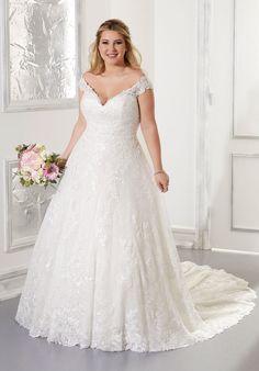 Plus Size Wedding Dresses: Julietta Collection | Morilee Mori Lee Wedding Gowns, Bridal Wedding Dresses, Designer Wedding Dresses, Lace Ball Gowns, Tulle Ball Gown, Samantha Wedding, Tulle Balls, Madeline Gardner, Mermaid Silhouette