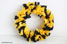 plastic tablecloth college wreath