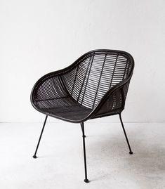 Retro Chair | Retro Arm Chair | Handmade | Rattan | Black | NZ | Indie ...