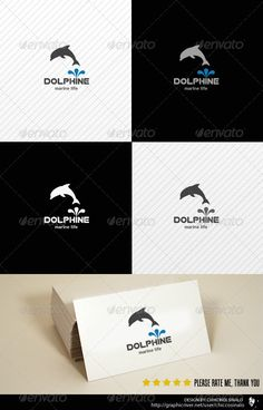Dolphine Logo Template by chiccosinalo Dolphine Logo Template is a great abstract logo design best for marine life, charity, water life, and many other related situation