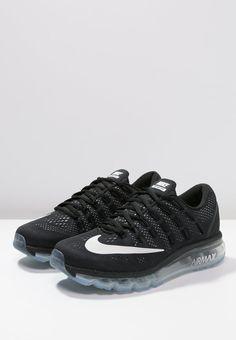 Nike Performance AIR MAX 2016 - Laufschuh Neutral - black/white - Zalando.de