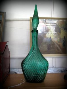 Retro Jade Green Genie Bottle