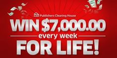 PCH Win $7,000 A-Week-For Life Sweepstakes