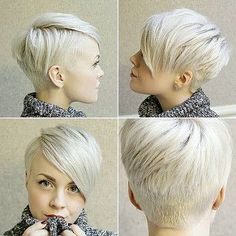 Today we have the most stylish 86 Cute Short Pixie Haircuts. We claim that you have never seen such elegant and eye-catching short hairstyles before. Pixie haircut, of course, offers a lot of options for the hair of the ladies'… Continue Reading → Short Pixie Haircuts, Pixie Hairstyles, Short Hair Cuts, Cool Hairstyles, Short Hair Styles, Hairstyle Ideas, Pixie Styles, Blonde Hairstyles, Shaved Hairstyles