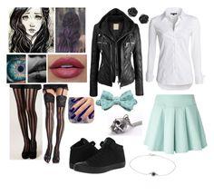 """Cadie Willows Outfit Fourty-nine"" by yukihanayuuki ❤ liked on Polyvore featuring Ileana Makri, Kai-aakmann, NIC+ZOE, Lottie, Leg Avenue and Converse"